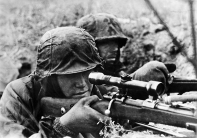 This is What Waffen-SS Sniper and Eastern Looked Like  in 1942