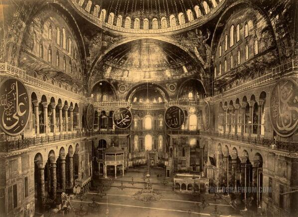 This is What Hagia Sophia and Ayasofya Looked Like  in 1888