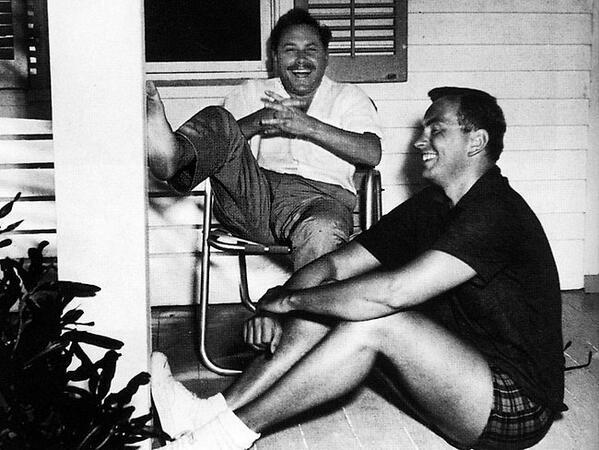 Fascinating Historical Picture of Tennessee Williams with Gore Vidal in 1950