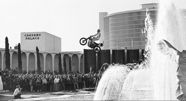 Stunning Image of Evel Knievel and Triumph in 1967