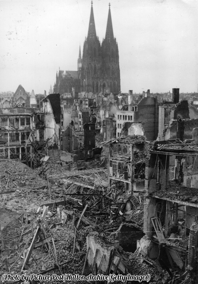 This is What Cologne Cathedral and Allied Looked Like  in 1945