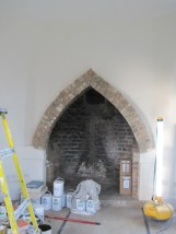 Restored fireplace. ©Rachael Hale aka History Magpie 2013