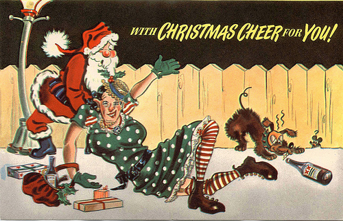We Wish You A Merry Christmas On Vintage Christmas Cards