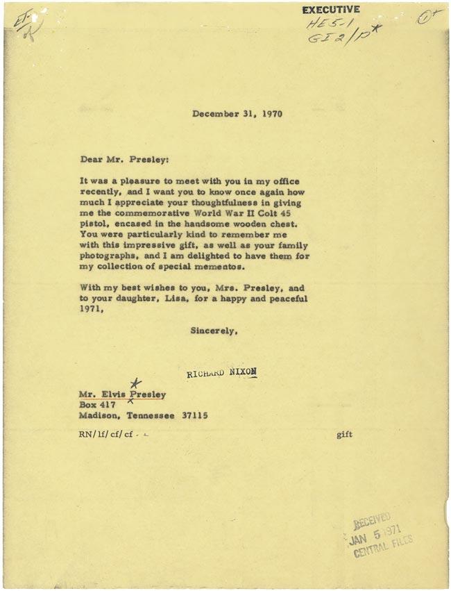 Elvis Presley Meets With President Richard M Nixon Historymartinezs Blog