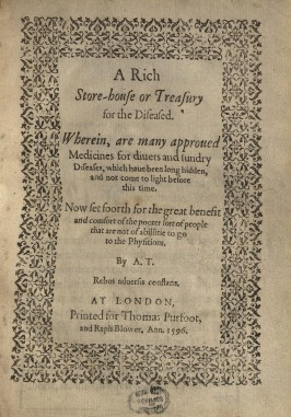 A rich store house or treasury for the diseased Title Page (1)