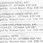 List of properties from a recent rental agreement.