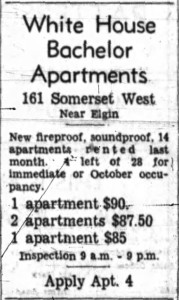 Detailed advertisement. Source: Ottawa Journal, July 24, 1957.