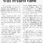 "Richard Soper, the ""Benevolent Bandit"" Source: Ottawa Journal, September 23, 1975."