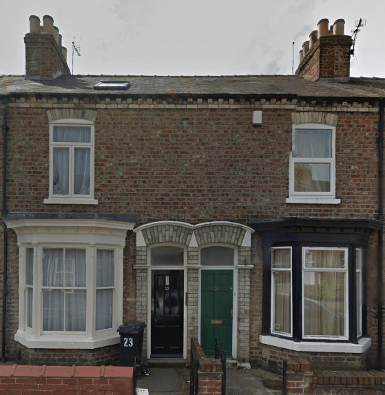Brown's parents could have come to Canada but chose to remain in York at this home at 23 Stanley Street. Source: Google Streetview (Image Date: April 2012).