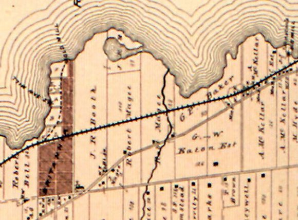 Magee's property, as identified in the 1879 Atlas of Carleton County, Nepean Township plate.