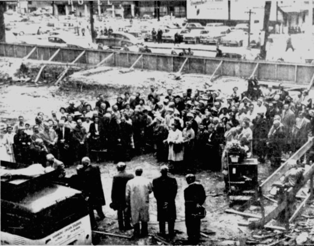 As a protest against their new tax status, a mass was held on the empty lot. Source: Ottawa Citizen, April 28, 1961, Page 3.