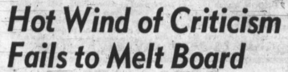 While Council may have been more open to residents' criticisms, the Board of Control was not going to be moved. Source: Ottawa Journal, March 15, 1950, Page 3.