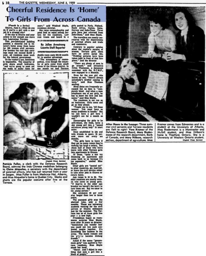 Duncan Cameron's images (in the grid above) were used by the Montreal Gazette in 1949. Source: Montreal Gazette, June 3, 1959, Page 10.
