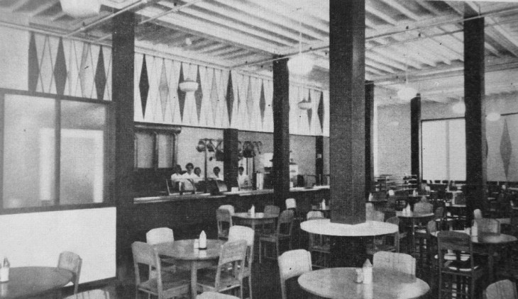 The cafeteria at Laurentian Terrace was a little spartan. Source: Newsletter of the Central Mortgage and Housing Corporation, Volume 9, No. 12. July 31, 1964. Source: LAC MG 26-N3 (Lester B. Pearson Files) Volume 166 File 352/C397.11 Laurentian Terrace.