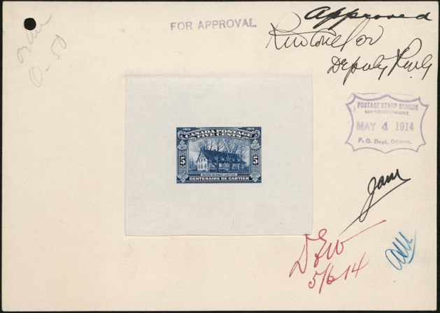 If a stamp was to be approved between 1897 and 1922, it would have been by Robert M. Coulter. Source: LAC Acc. 1995-163 CPA Item A501-01.