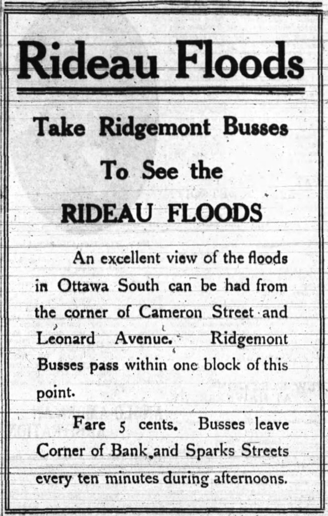A market that is fortunately (or sadly, depending on your perspective) unavailable to OC Transpo today. Source: Ottawa Journal, April 11, 1911, p. 2.