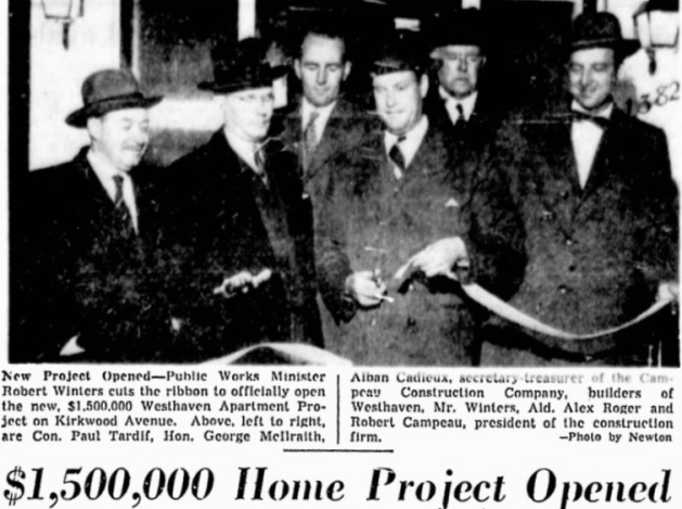 Westhaven grand opening. Source: November 18, 1952, p. 12.