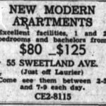 The then-nameless MacGregor Apartments. Witt's first. Source: Ottawa Journal, November 28, 1960, p. 37.