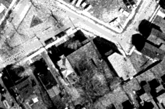 34 MacLaren, as it appeared from above in 1965. Image: geoOttawa.