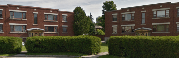Beaudoin's Irene Crescent apartments were of the expected design. Image: Google Maps, 2014.