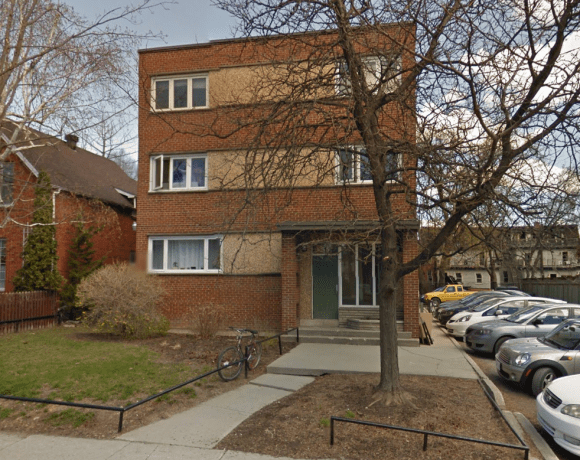 The MacGregor Apartments, at 55 Sweetland in Sandy Hill in 2015. This was Witt's first building. Image: Google Maps.