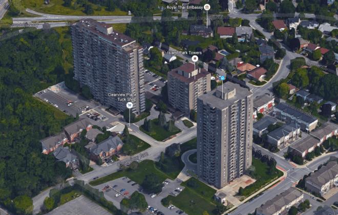 Unlike the others, Riverside Terrace did not last long. Image: Google Maps.