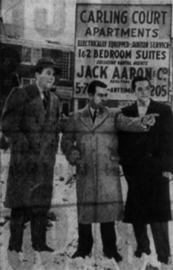 L to R: Jack Aaron, John Chenier, Irving Aaron. Source: Ottawa Journal, January 16, 1954, p. 31.