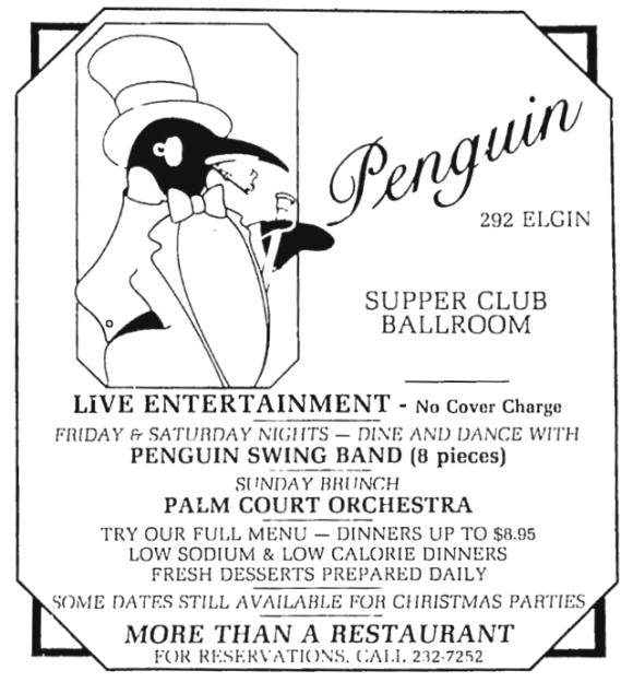 The Penguin was more Batman than polar bird. Source: Ottawa Citizen, December 3, 1982, p. 82.