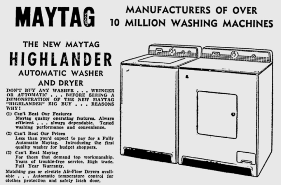 A 1956 advertisement. Source: Ottawa Citizen, December 13, 1956, p. 45.