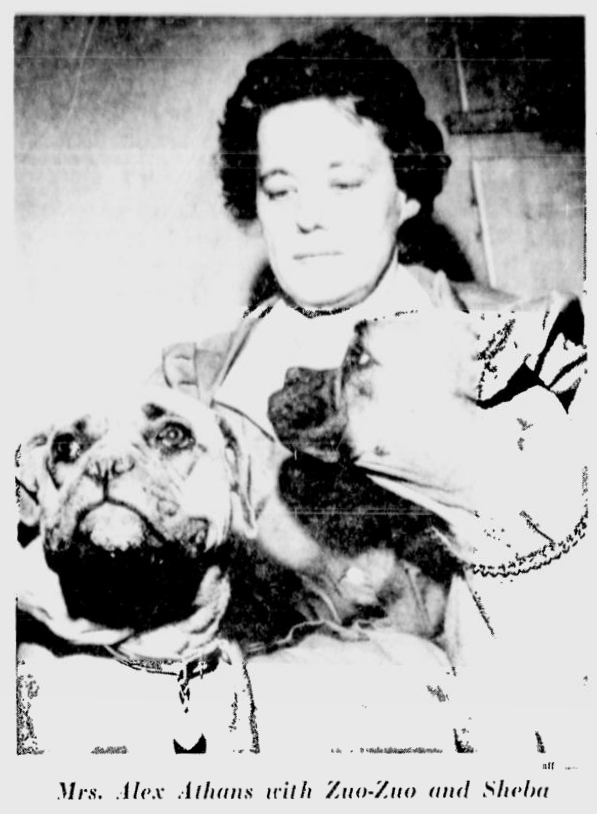 Save for Zuo-Zuo and Sheba, Dorothea Athans had kept a low profile. Source: Ottawa Citizen, June 1, 1964, p. 1.