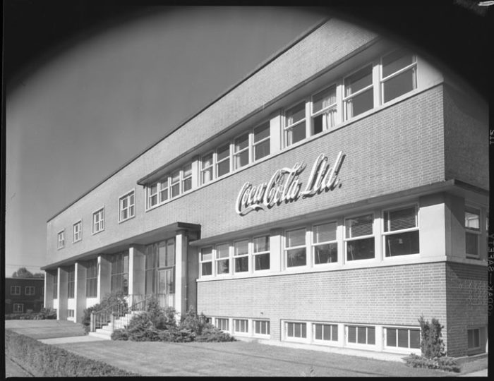The Coca-Cola bottling plant on Bronson Avenue was the largest private sector project, with a permit value of $850,000. Image: City of Ottawa Archives, CA034241.