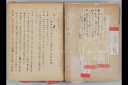 Matsumoto Joji's draft and associated notes. Matsumoto's blindness to the new realities of Japanese politics doomed his work to becoming a footnote in Japanese history.