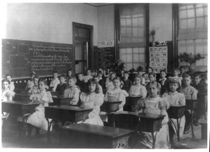 Classroom in a Washington, DC, public school, ca. 1899, Frances Benjamin Johnston