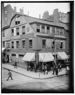 Old Corner Bookstore (first brick building in Boston, MA), ca. 1900, Detroit Publishing Co.