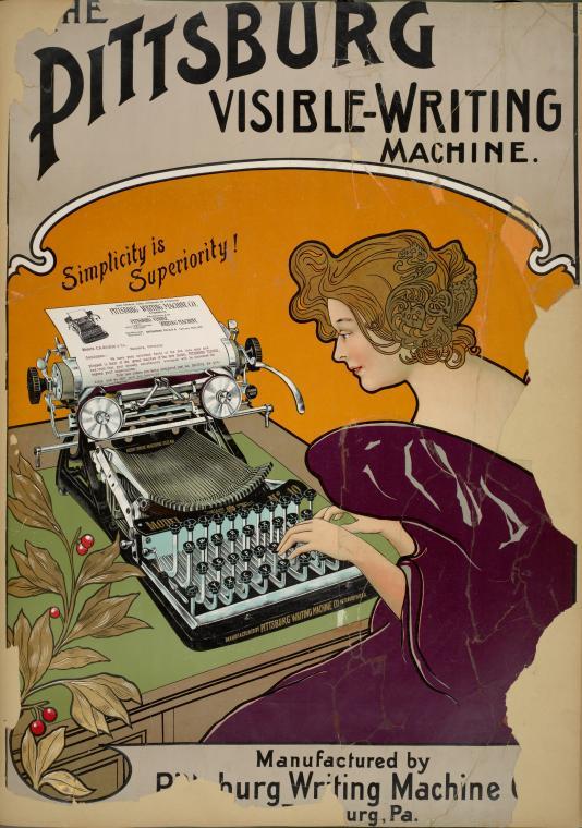 Poster of Old Typewriter