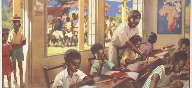 Attractive classroom scene