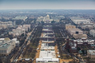 "Presidential inauguration, January 20, 2017, 12:05 a.m., by the National Park Service. Made public in response to an FOIA request. See batch 4 of ""National Mall & Memorial Parks Inaugural Photos,"" added March 3, 2017, to FOIA—Frequently Requested Documents."
