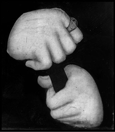 Infrared photograph detail of hands in Lucas Cranach the Elder, Johann, Duke of Saxony. Open Access.