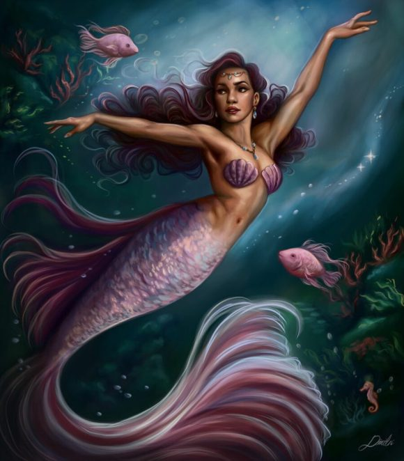 """Purple Mermaid"" by Dimitris Karakousis"