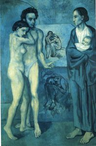 """La Vie"" (""Life""), painted in 1903 by Pablo Picasso."