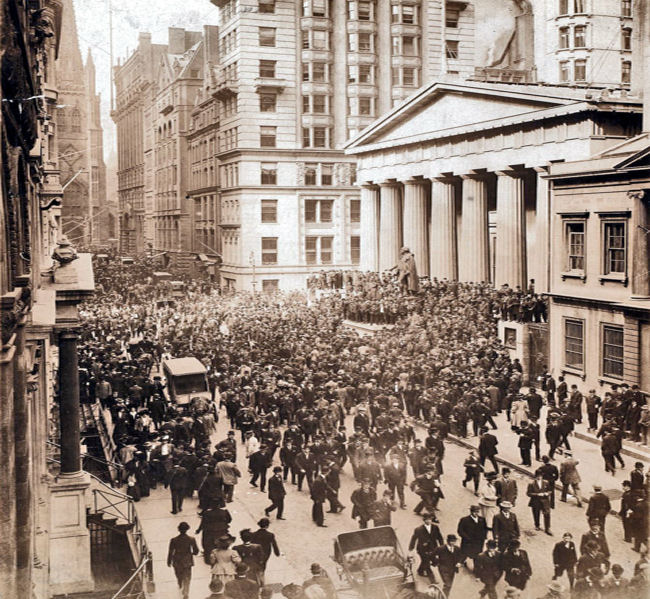 Wall Street during the Panic of 1907.