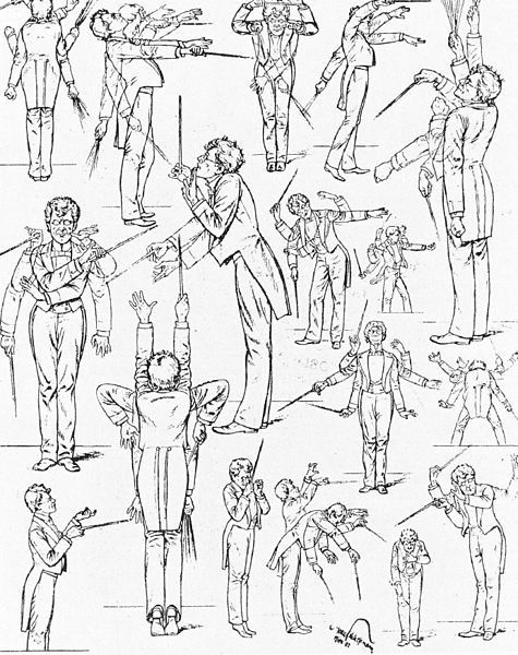 Published in Vienna in 1901, these humorous sketches caricature the conducting style of Gustav Mahler.
