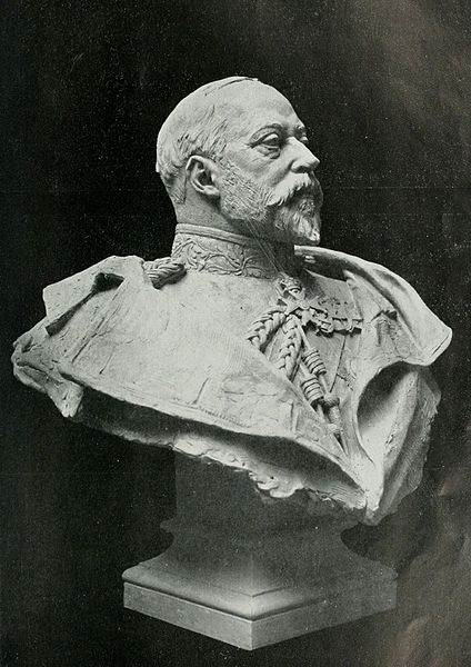 Bust of Edward VII, King of the United Kingdom from 1901-1910.