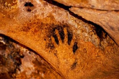 Handprint - ancient man image