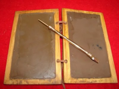 Wax tablet and stylus image