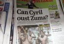 2 Pics: Mass Media Scum newspapers filled with stories of Ramaphosa to oust Zuma