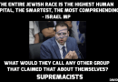 Why is this lying Jew saying this? Israeli lawmaker proclaims supremacy of Jewish race!