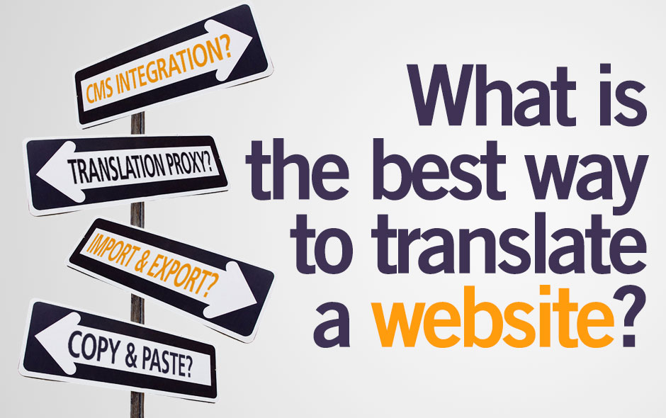 How to translate a website to english