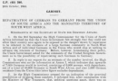 British War Cabinet: Repatriation Of Germans From South West Africa And South Africa To Germany October 1945 – turning some facts on the table.