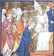 Coronation of Charlemagne by Pope Leo III, Dec. 25, 800